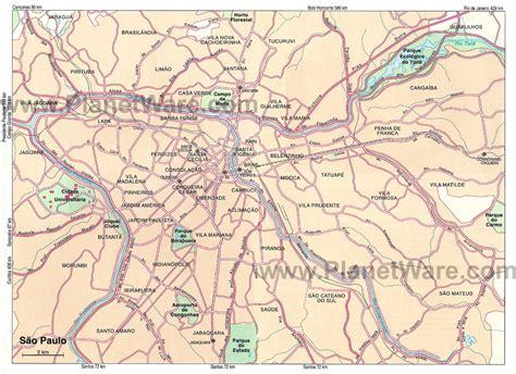 sao paulo state map sao paulo state map