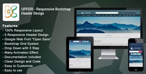 responsive header design bootstrap upperi responsive bootstrap header design jogjafile