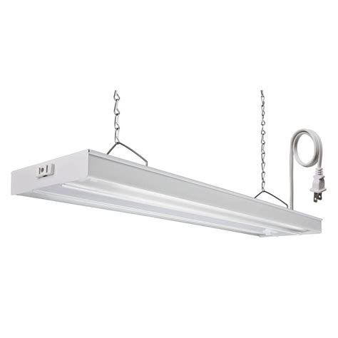 Lithonia Light Fixtures Lithonia Lighting 4 Ft White T5 Fluorescent Grow Light Grw 2 28 Csw Co M4 The Home Depot