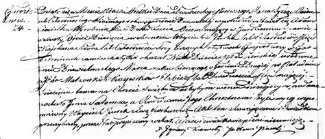 Lublin Poland Birth Records The Birth And Baptism Of Salomea Ciesielka 1847 Steve S Genealogy