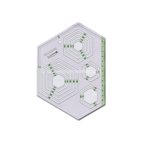 hexagon ruler templates gabarit hexagones clover r 232 gles marquage tra 231 age