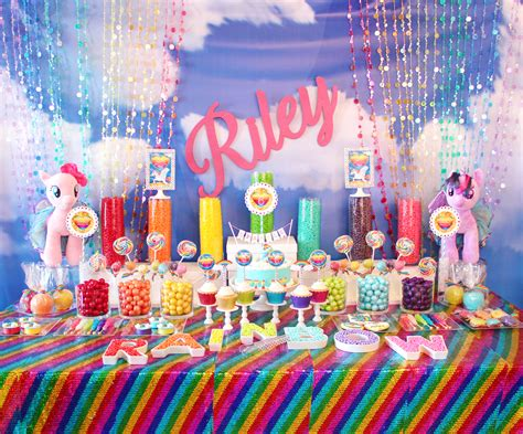 rainbows and sparkles birthday party ideas birthdays event of the week my little pony rainbow dash sparkle
