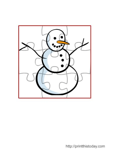 easy printable jigsaw puzzles free printable winter games activities and puzzles