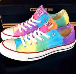 colorful converse tie dye converse colorful custom tie dye by livingyoungdesigns