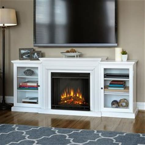 White Wood Electric Fireplace by Shop Real 72 In W 4780 Btu White Wood Led Electric