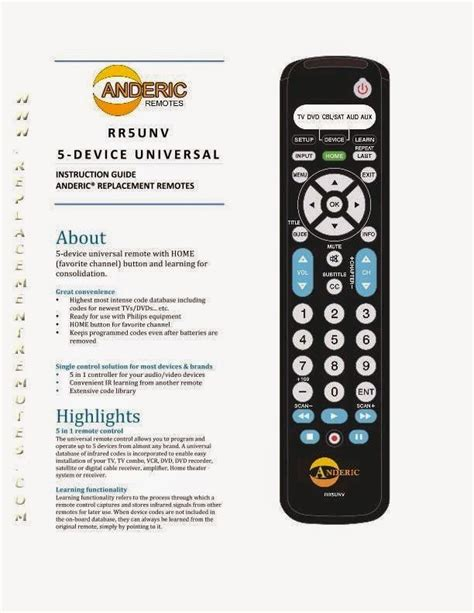 Philips Universal Remote Cl032 User Manual