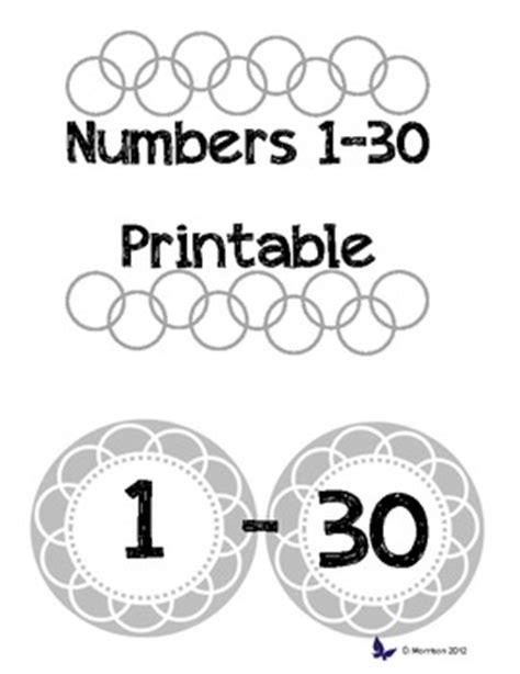 free printable numbers 1 30 printable numbers 1 30 by acraftyteacher teachers pay