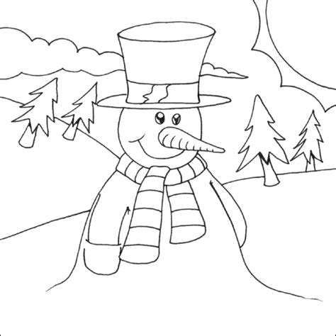 snowman coloring page to print free coloring pages of snowman