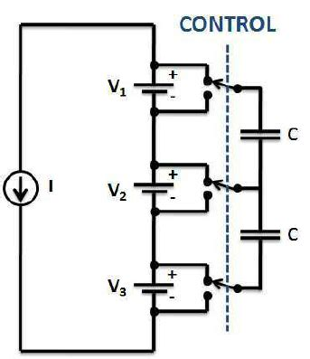 switched capacitor systems for battery equalization switched capacitor circuit used to equalize charge in a series string