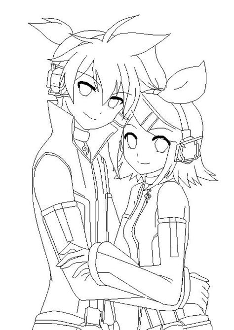 vocaloid coloring pages kagamine rin y len coloring pages