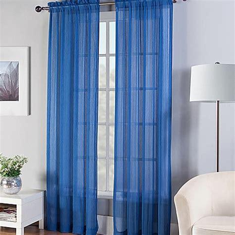 95 inch sheer curtain panels buy fiesta 174 95 inch sheer window curtain panel in lapis