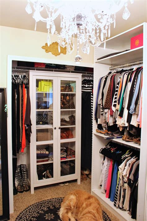 Purse Cabinet by Tiffanyd Updated Closet And Makeup Filming Area Tour