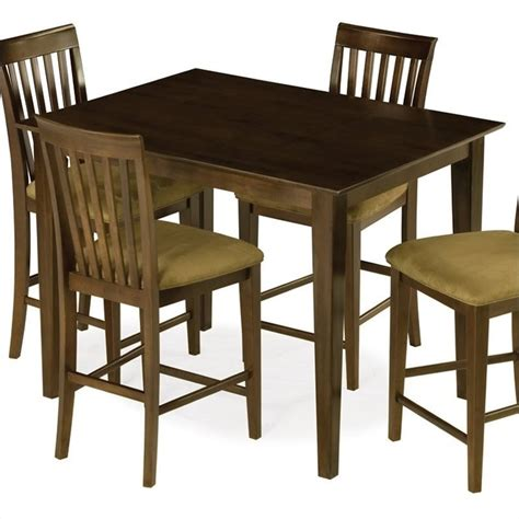 Pub Height Dining Tables Atlantic Furniture Shaker Counter Height Pub Dining Table In Antique Walnut Shaker Pt Aw