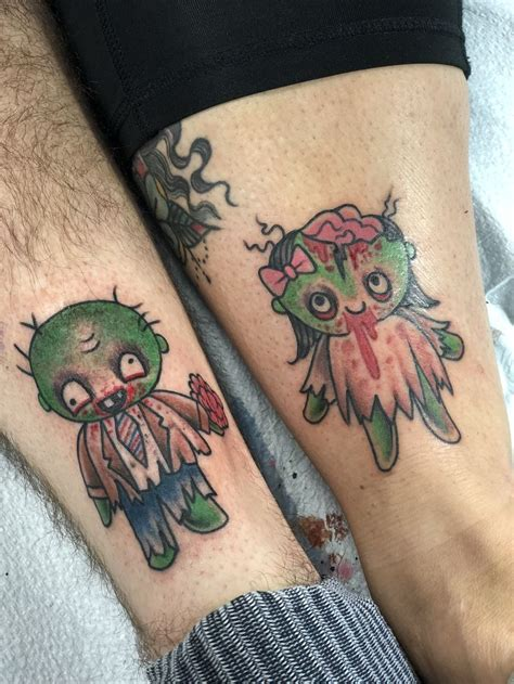 zombie couple tattoos 64 best tattoos i done did images on