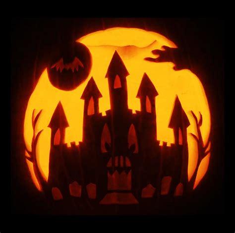pumpkin pattern haunted house 30 scary halloween pumpkin carving face ideas designs