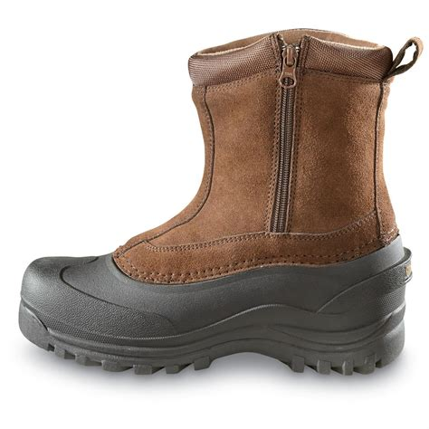 winter boots guide gear s insulated side zip winter boots 400