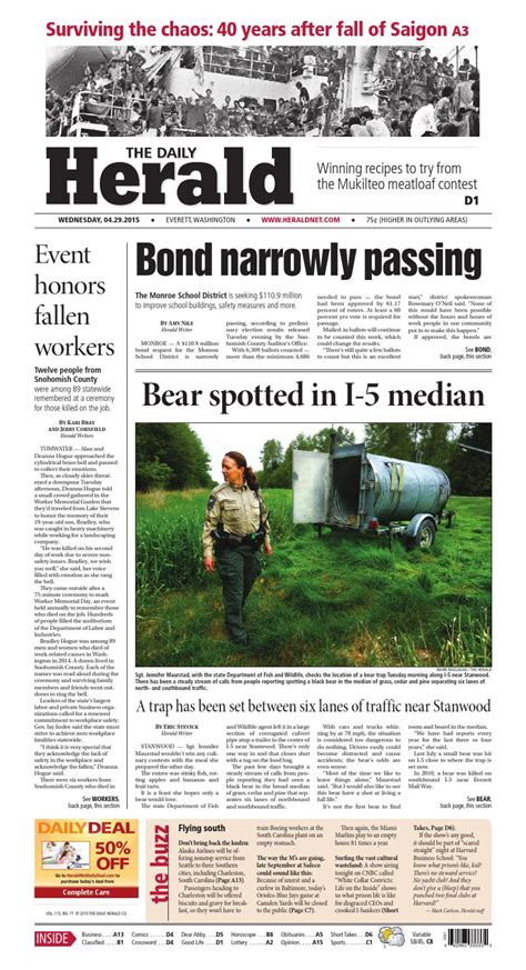 everett daily herald april 29 2015 by sound publishing