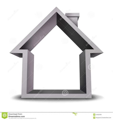 blank home home icon with blank frame stock photo image 24032300