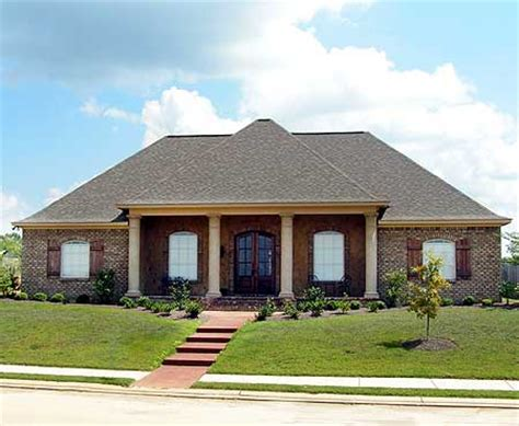 southern architectural styles acadian house plan with safe room 83876jw acadian