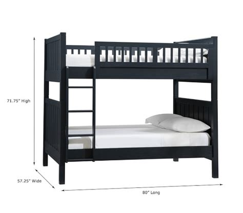 full over full bunk bed c full over full bunk bed pottery barn kids