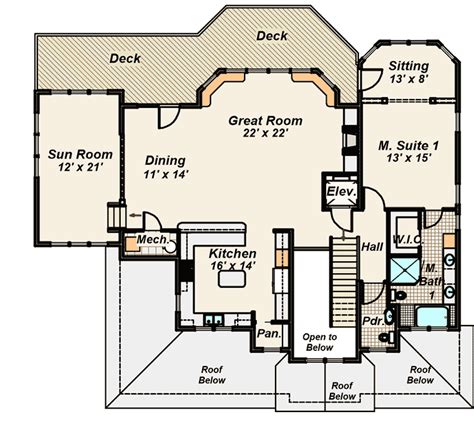 drive under house plans with elevator drive diy home plans living space on top floor 13137fl 1st floor master