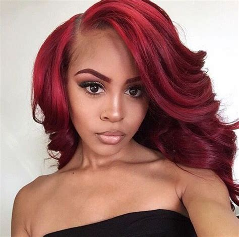 blood hair color best 25 weave ideas on colored weave