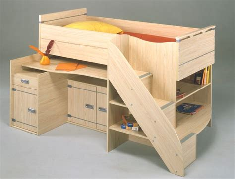 Cabin Bed With Futon And Desk by 24 Best Funky Bunks Images On 3 4 Beds