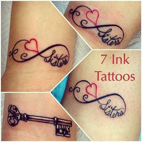 sister tattoos for 3 matching tattoos infinity