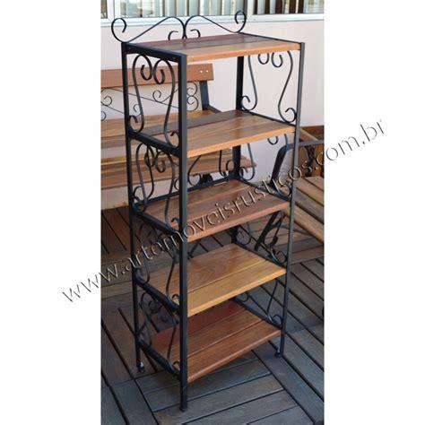 estante ferro e madeira prateleira estante 0 52 x 1 50 em ferro madeira 3015