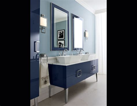 d18 high end bathroom vanity navy lacquer wood