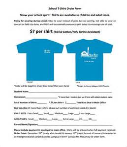 t shirt order form template 24 free word pdf format