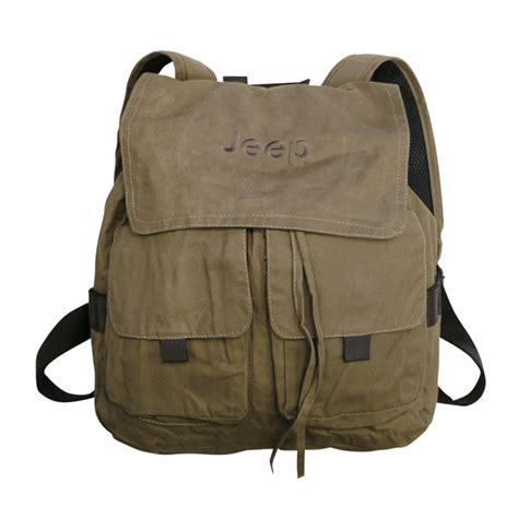 Jeep Backpack All Things Jeep Jeep Embroidered Canvas Backpack Camel