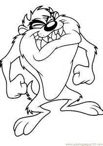 coloring pages taz3 cartoons gt taz free printable coloring