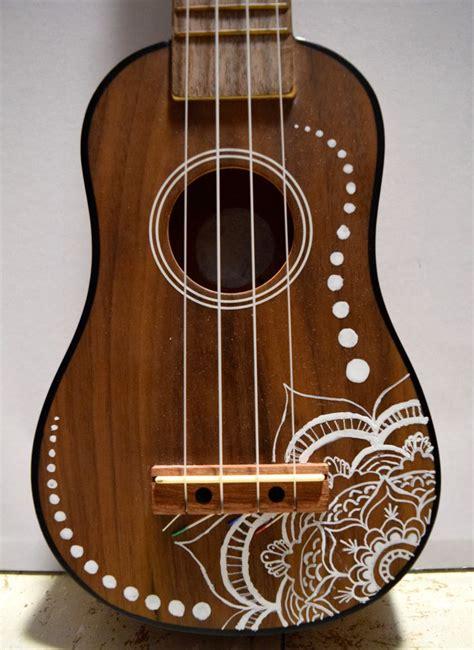 Flower Design Ukulele | soprano ukulele with hand painted design flower design