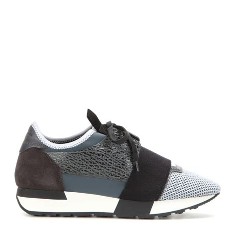 lyst balenciaga runner race sneakers in gray