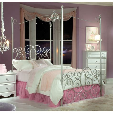 princess canopy bedroom set standard furniture princess metal silver canopy bed the