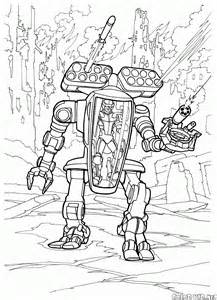 dibujo para colorear guerras futuristas