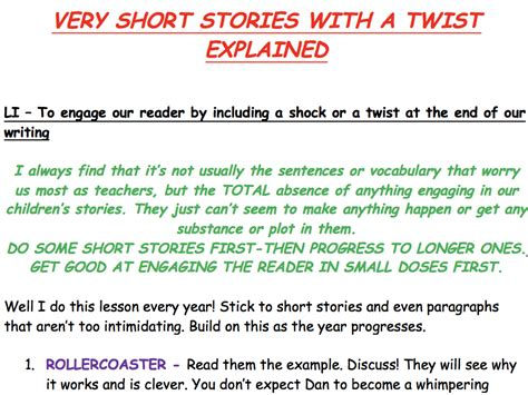themes in stories ks2 ks2 writing very short stories with a twist by