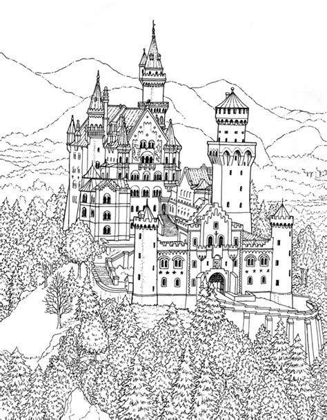 coloring page castle great castles castle coloring book