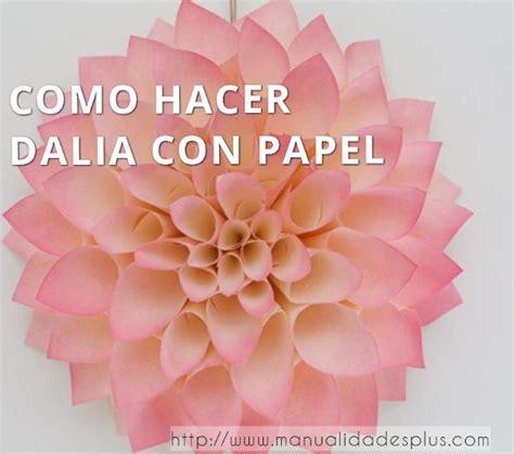 como hacer flores dalia con papel