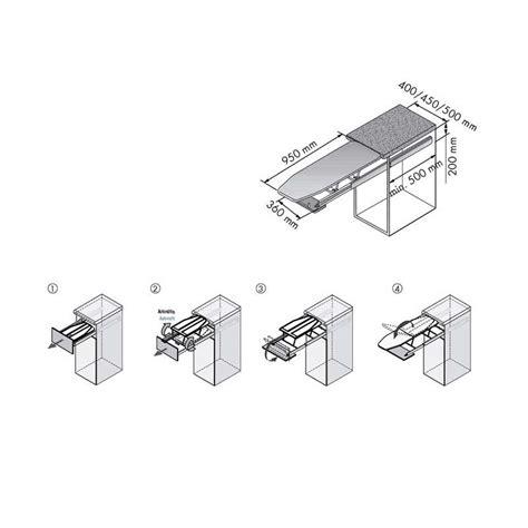 mueble para tabla de planchar extraible con tabla de planchar para mueble de cocina