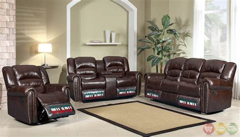 Traditional Leather Living Room Sets by Jacob Brown Bonded Leather Motion Traditional Living Room Set W Nail Heads
