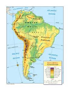 elevation map south america south america elevation