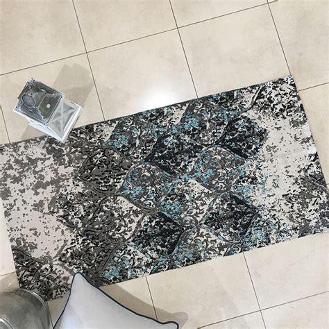 aqua rugs australia 100 cotton grey runner rug with grey aqua pattern humble home