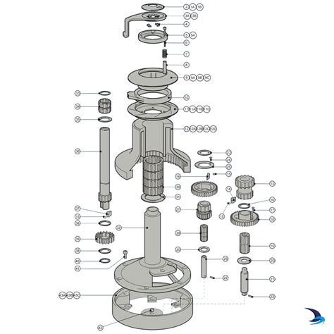 lewmar windlass parts diagram lewmar self tailing winch spares size 66st 2 speed