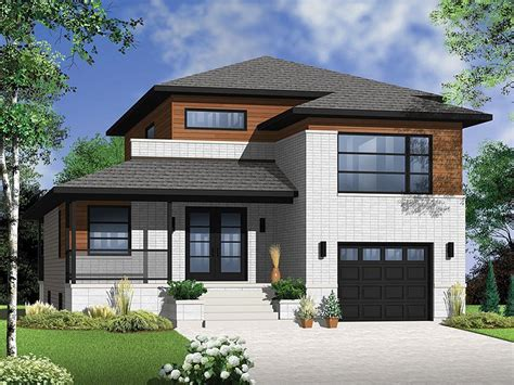 narrow lot homes plan 027h 0298 find unique house plans home plans and