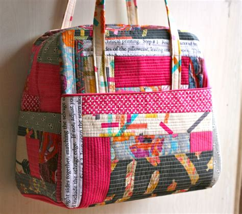 Patchwork Bags To Make - patchwork weekender by one shabby featuring washi