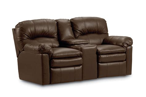 loveseat console recliner dark brown leather power reclining loveseat with cup