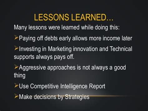 Lessons Learned From Mba Program by Glo Cemo Enterprise Usp Mba 440