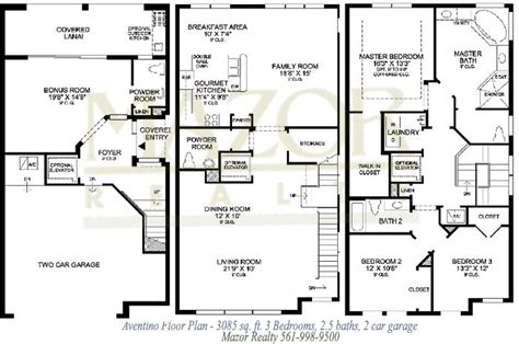 3 story house plans story house floor plans and trieste at boca raton florida